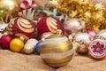 Christmas tree ornaments Royalty Free Stock Photo