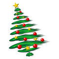 Christmas tree over white Royalty Free Stock Photo