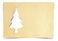 Christmas tree paper Royalty Free Stock Photos