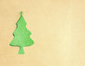 Christmas tree paper Stock Photo