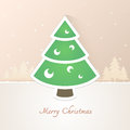 Christmas tree paper with snow background eps this illustration contains transparency Royalty Free Stock Images
