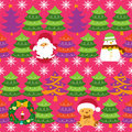 Christmas Tree Pattern Stock Image