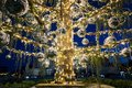 Christmas tree in Piazza Venezia, decorated with lights and ball Royalty Free Stock Photo