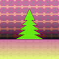 Christmas tree on pink horizontal pattern Royalty Free Stock Photo