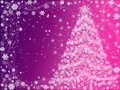 Christmas tree pink and violet Royalty Free Stock Photos