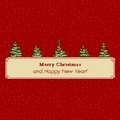 Christmas tree pixel greeting card banner Stock Photos