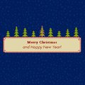 Christmas tree pixel greeting card banner Stock Images