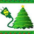 Christmas Tree Power Icon Royalty Free Stock Image