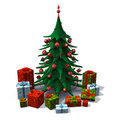 Christmas tree with presents Royalty Free Stock Image