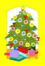 Christmas tree and presents Stock Photography