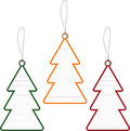 Christmas tree price tag Royalty Free Stock Photo
