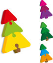 Christmas tree from puzzles Royalty Free Stock Photos