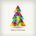 Christmas tree in rainbow colors