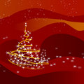 Christmas tree-red Stock Photo