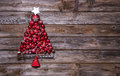 Christmas Tree Of Red Balls On...