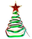 Christmas tree with red star Royalty Free Stock Photo