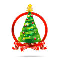 001-Christmas Tree With Ribbon
