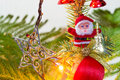 Christmas tree santa claus on the little decorative for and new year festive seasons Stock Images