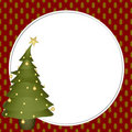 Christmas Tree Scrapbook Frame Stock Photo