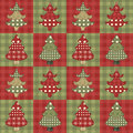 Christmas tree  seamless pattern 1 Stock Photos