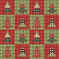 Christmas tree  seamless pattern 3 Stock Image