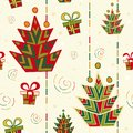 Christmas tree seamless pattern this is file of eps format Stock Images