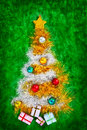 Christmas tree shape Stock Images
