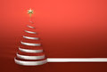 Christmas tree shape with star copy space d render Royalty Free Stock Image