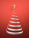 Christmas tree shape with star d render Stock Photography