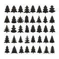 Christmas tree silhouette design vector set. Concept tree icon