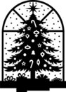 Christmas Tree Silhouette/eps Royalty Free Stock Photography