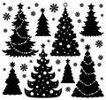 Christmas tree silhouette theme 1