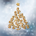 Christmas tree silver background holiday Royalty Free Stock Photography