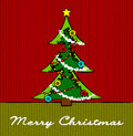 Christmas tree sketch Royalty Free Stock Image