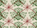 Christmas Tree Snowflake Doodle Pattern Stock Photo