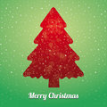 Christmas tree snowflake green red Stock Photo