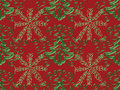 Christmas Tree Snowflake Pattern Stock Image