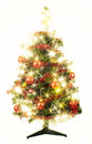 Christmas tree with stars on white background Stock Image