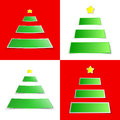Christmas tree sticker Royalty Free Stock Photography