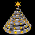 Christmas tree stylized (Hi-Res) Royalty Free Stock Photography