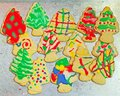 Christmas Tree Sugar cookies Royalty Free Stock Photos