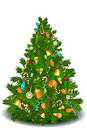 Christmas tree with sweets Royalty Free Stock Image