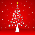 Christmas tree with symbols Royalty Free Stock Photos