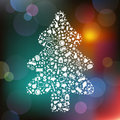 Christmas Tree From Symbols. Vector Stock Image