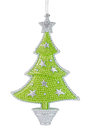 Christmas tree toy isolated on white background Stock Photos
