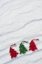 Christmas tree toys snow Royalty Free Stock Photography