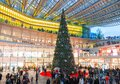 Christmas tree under the canopy, Châtelet Les Halles, Paris, France Royalty Free Stock Photo