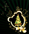 Christmas tree vector Royalty Free Stock Photos