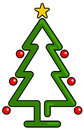 Christmas tree vector drawing of a Royalty Free Stock Photo