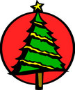 Christmas tree vector illustration Stock Image